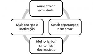 Quadro de como reverter o ciclo da depressão